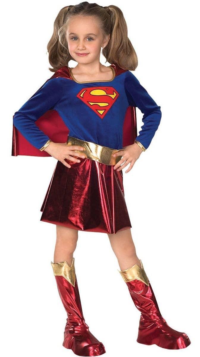 Supergirl Dress Womens Costume DC comics Marvel Superhero Fancy Dress outfit