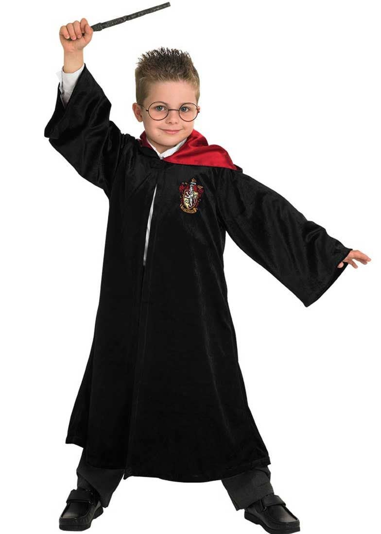 World Book Day-Harry YOUNG BOY WIZARD CLOAK with WAND /& GLASSES Kids Fancy Dress