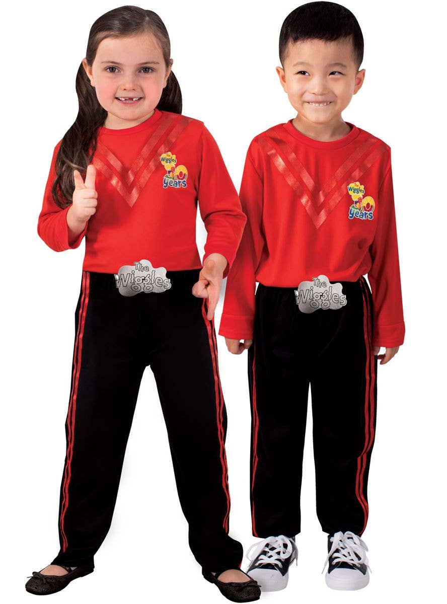LICENSED RED WIGGLE MURRAY SIMON THE WIGGLES BOYS CHILD FANCY DRESS COSTUME
