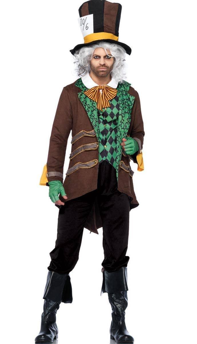 Mens Mad Hatter Alice In Wonderland Costume Book Week Storybook Fairytale Outfit