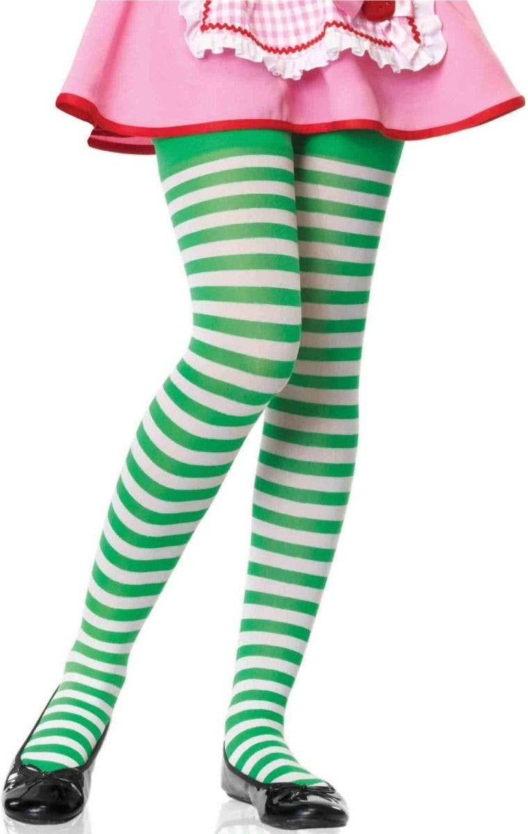 Style Set 7, Adult Size 4 Pairs Halloween Striped Stockings Full Length Tights Stockings for Women Girls