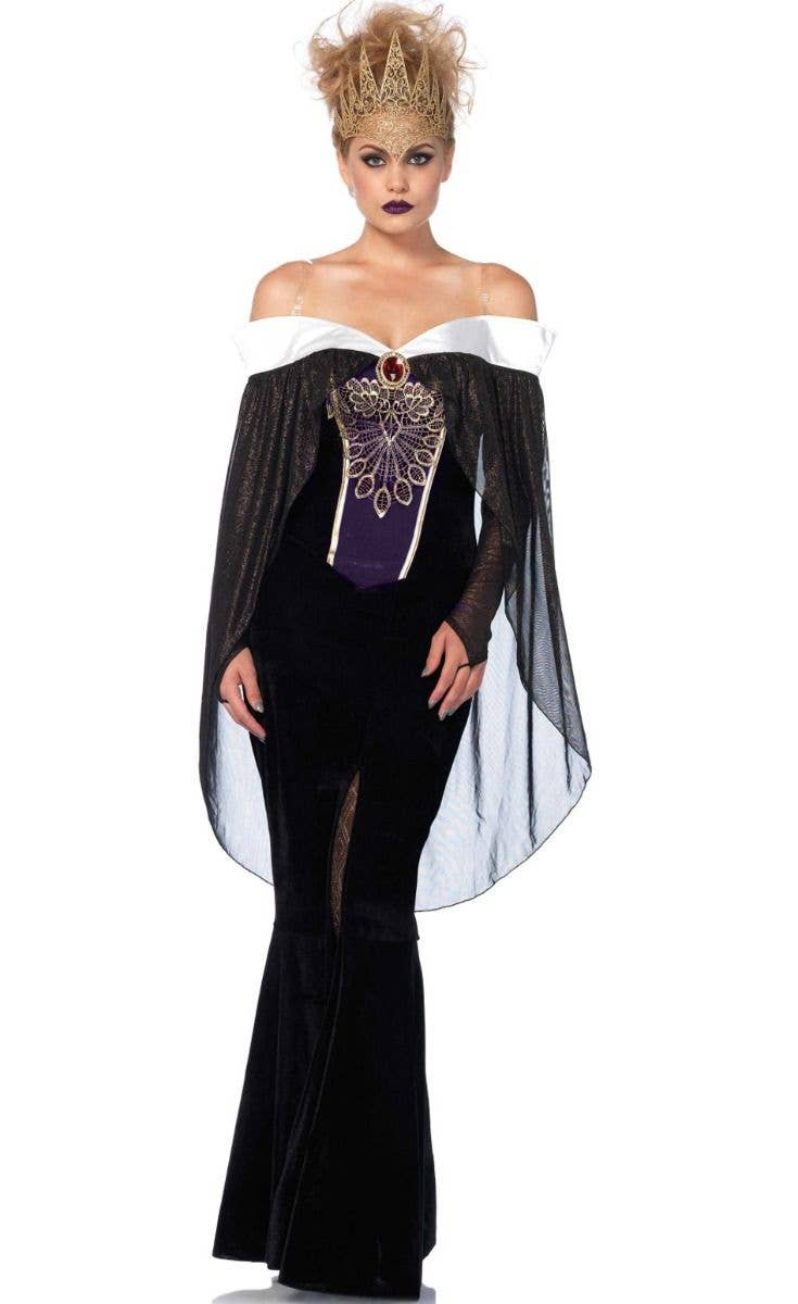 Evil Queen Disney Snow White Villain Fancy Dress Halloween Deluxe Adult Costume