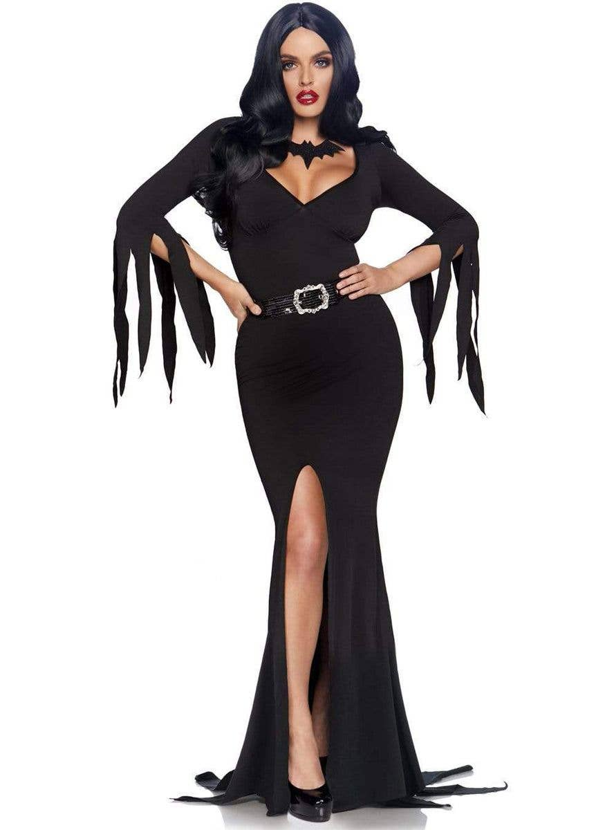 Immortal Womens Adult Black Witch Vampire Gothic Halloween Costume