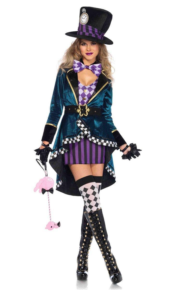 Deluxe Purple Mad Hatter Disney Costume Women S Mad Hatter Costume