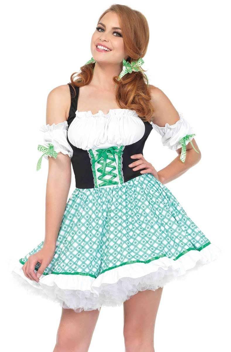 Irish Clover Green and White Costume | St Patrick's Day Womens Costume