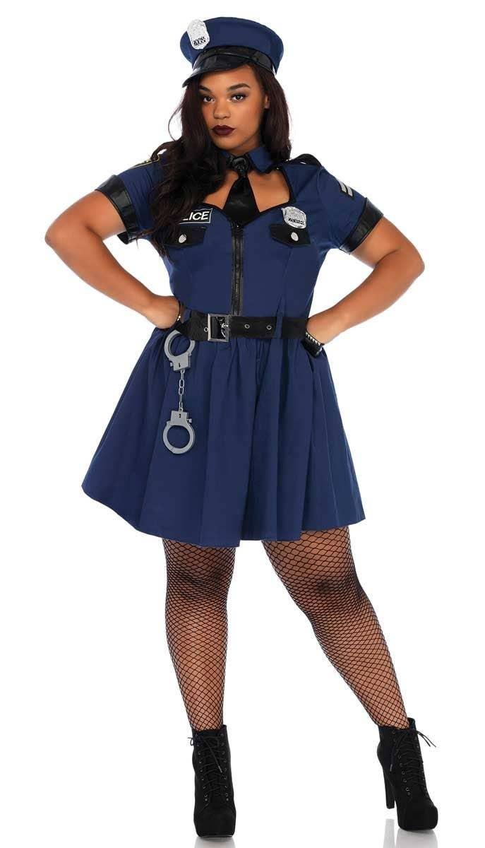 Cop Costume Womens Ladies Police Woman Officer Uniform Fancy Dress Hen Party