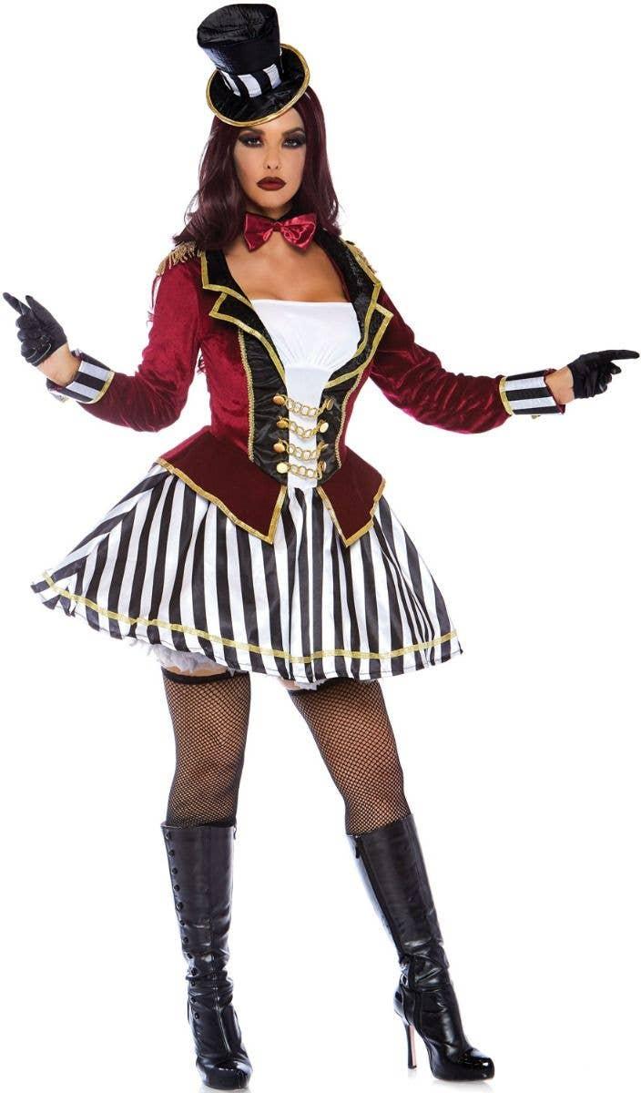 Circus Costume Halloween Tee Ringmaster Costume T-shirt Ringmaster Outfit Halloween Costume Lion Tamer Costume Circus Ringmaster