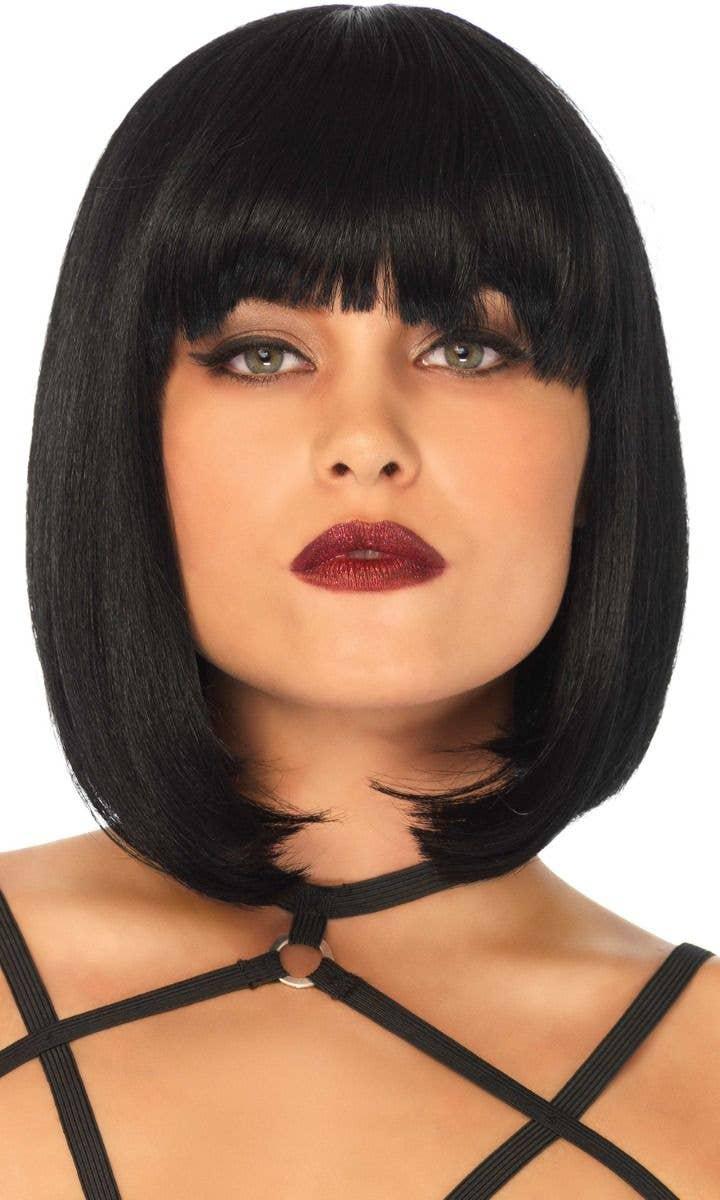 Short Black Vampire Wig Vampiress Bob Adult Costume Hair Wig Fast Ship