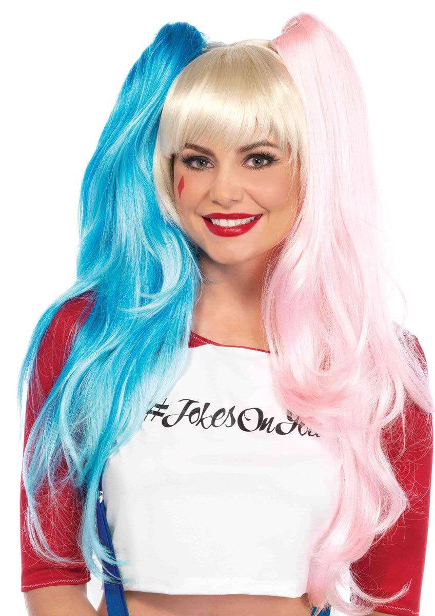 Ladies Daddys Girl Pigtail Wig Suicide Halloween Fancy Dress Costume Outfit Accessory