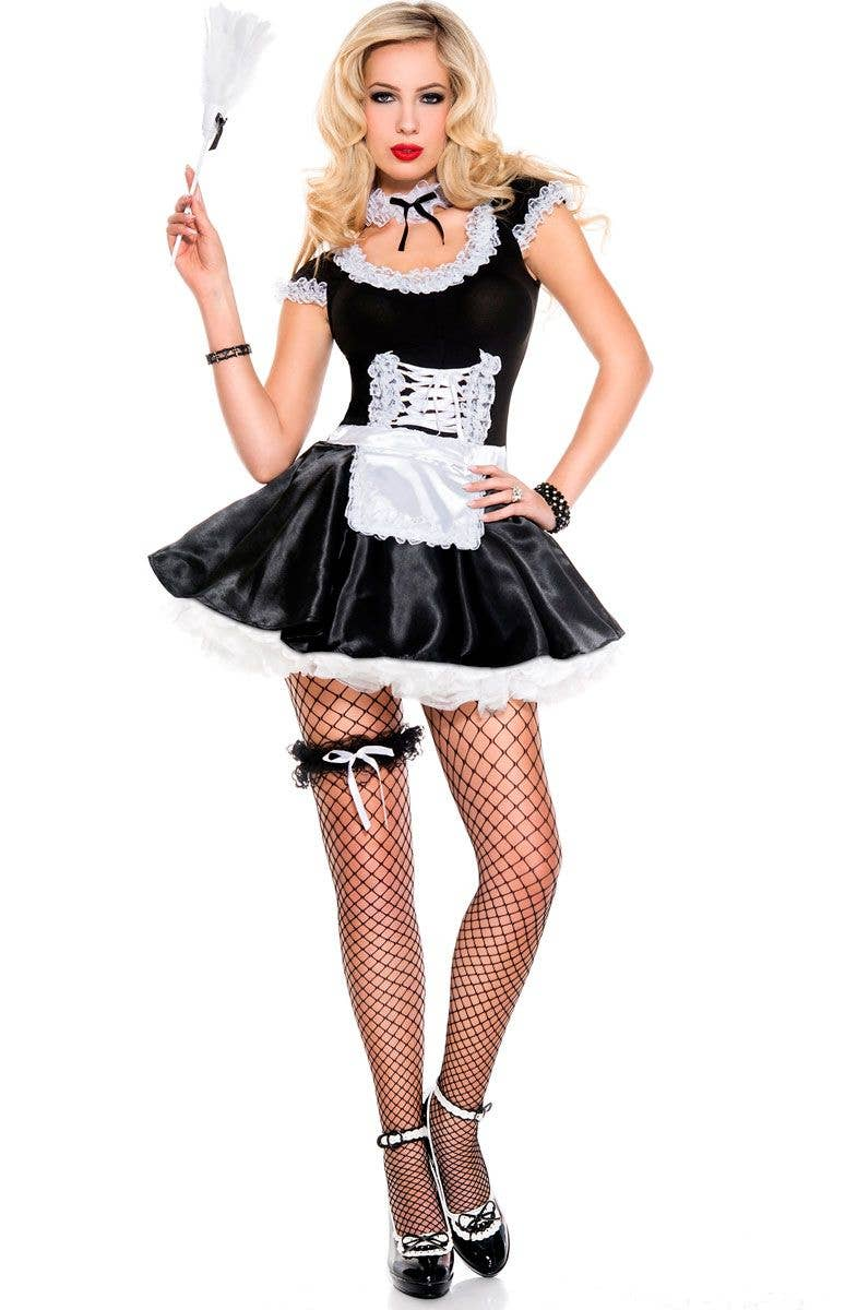 Sexy Lace French Maid Costume Dress | Women's Sexy Maid ...