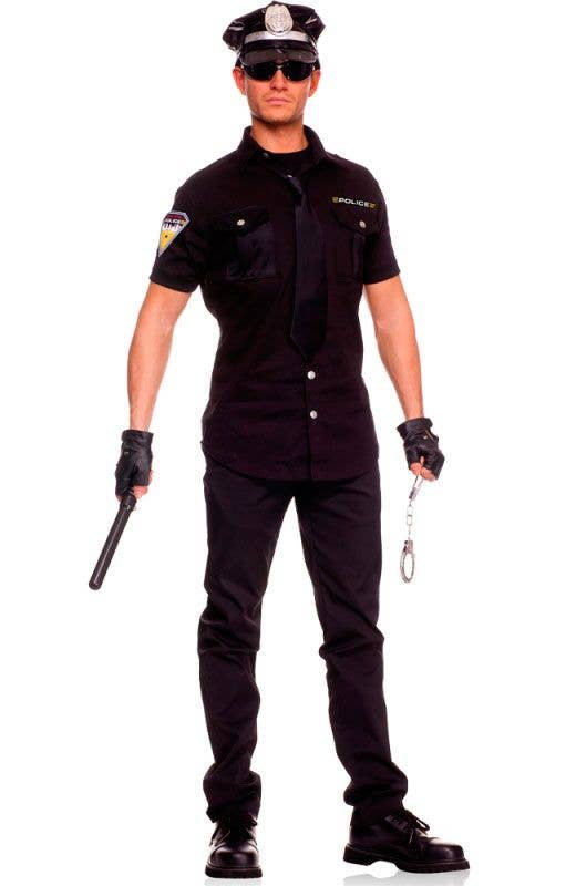 Adult Policeman Police Uniform Mens Fancy Dress Costume Party M-XXL On Patrol