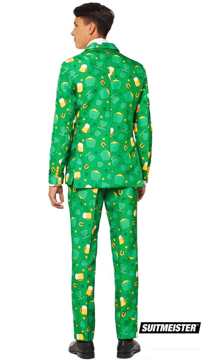 Mens Green St Patrick/'s Day Stylish Irish Shamrock Designed Suit