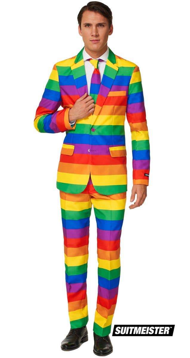 Rainbow Suit Men S Costume Solid Rainbow Suitmeister Suit