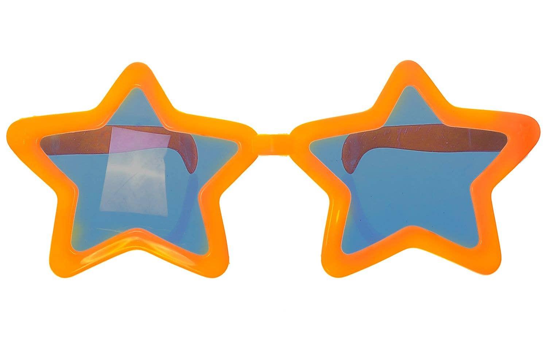 Novelty Orange Star Sunglasses Jumbo Glasses Costume Accessory