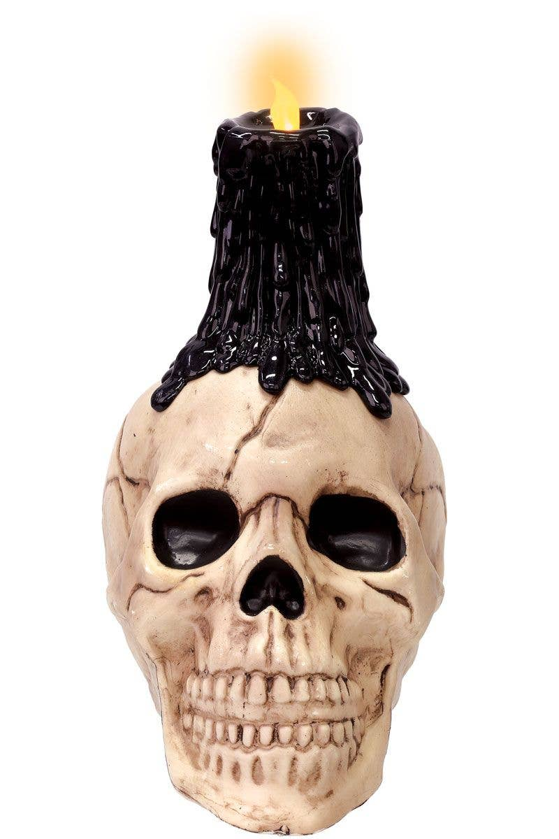 Skull Head Flickering Candle Halloween Decorations