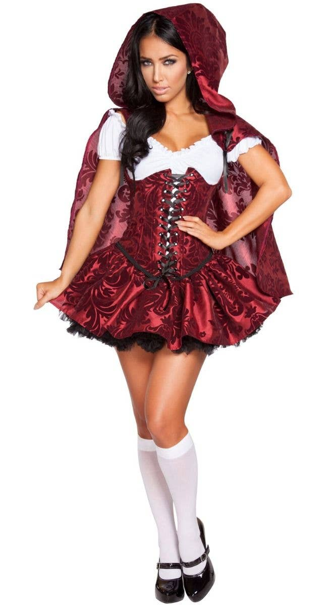 Little Red Riding Hood Girl/'s Costume /& Cape Fancy Dess Gown Small Medium Large