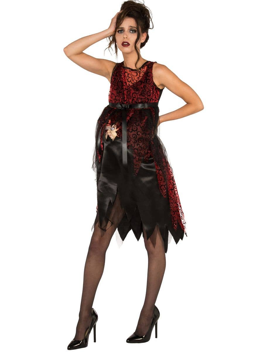 Maternity Halloween Costumes PIRATE QUEEN Adult Std Size Mommy to Be Fancy Dress