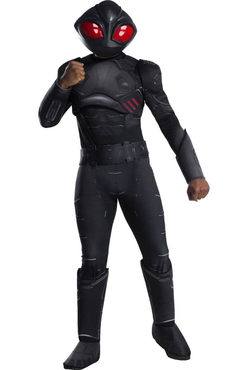 Black Manta Boys Fancy Dress Comic Aquaman Villain Kids World Book Day Costume