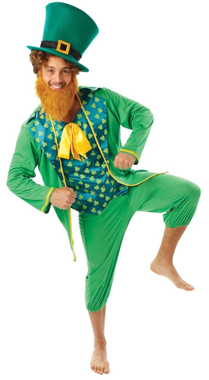 Deluxe Irish Lucky Leprechaun St Patricks Day Adult Mens Fancy Dress Costume
