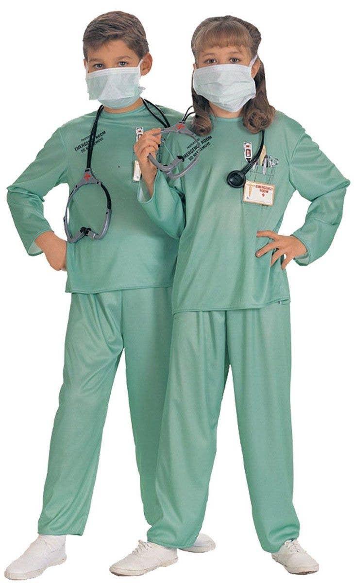 Halloween Fancy Dress Scrub Suit Doctor Nurses Uniform with hat /& mask