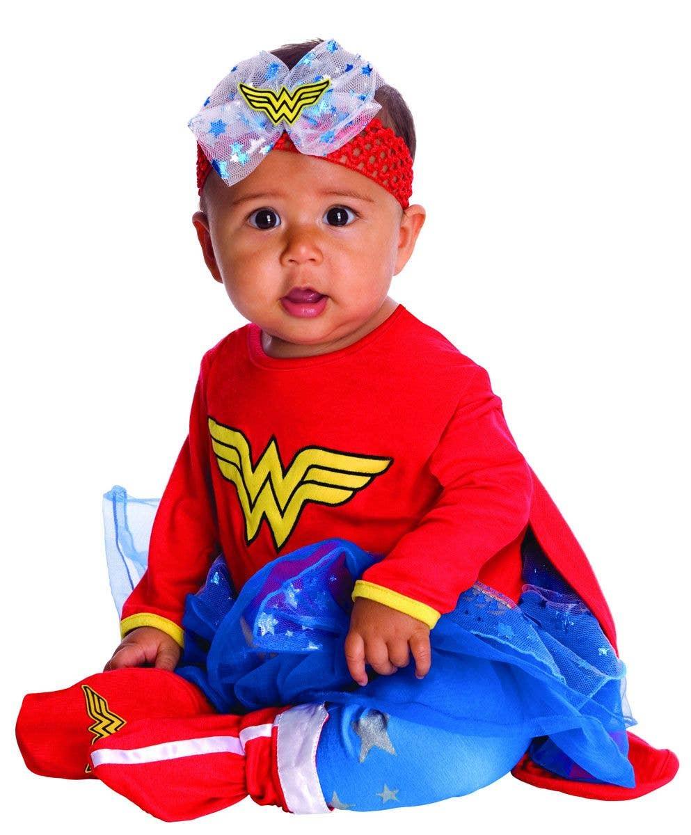 Baby Girl Wonder Woman Bodysuit Newborn Superhero Costume Playsuit Party Outfits