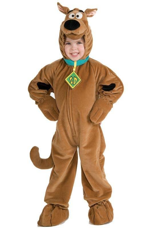 Scooby Doo Fancy Dress Cartoon Dog Mens Adult Halloween Fun Animal Costume New