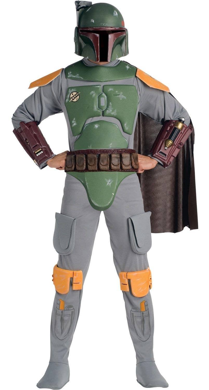 Boba Fett Galactic Bounty Hunter Costume Star Wars Halloween Fancy Dress