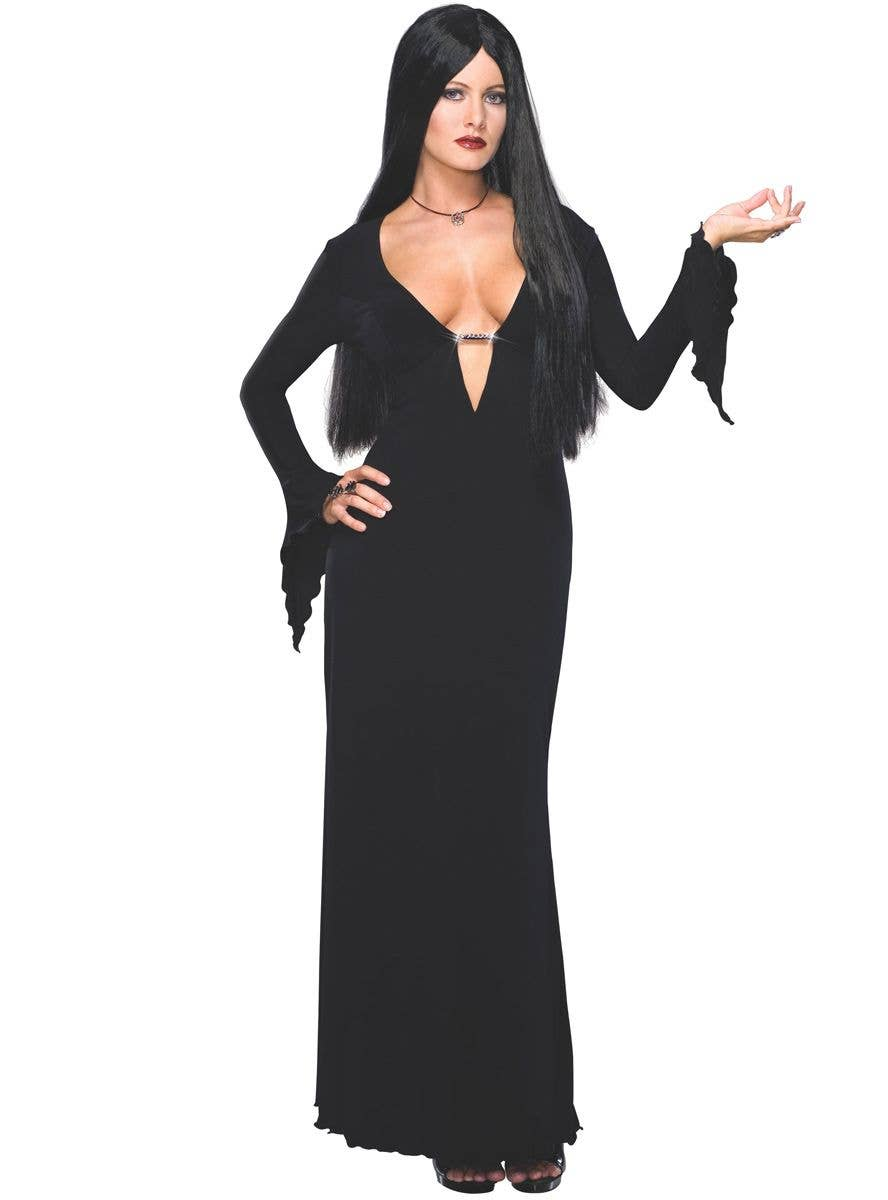 HALLOWEEN//Scary//Horror//The Addams Family Ladies MORTICIA ALL SIZES /& PLUS SIZES
