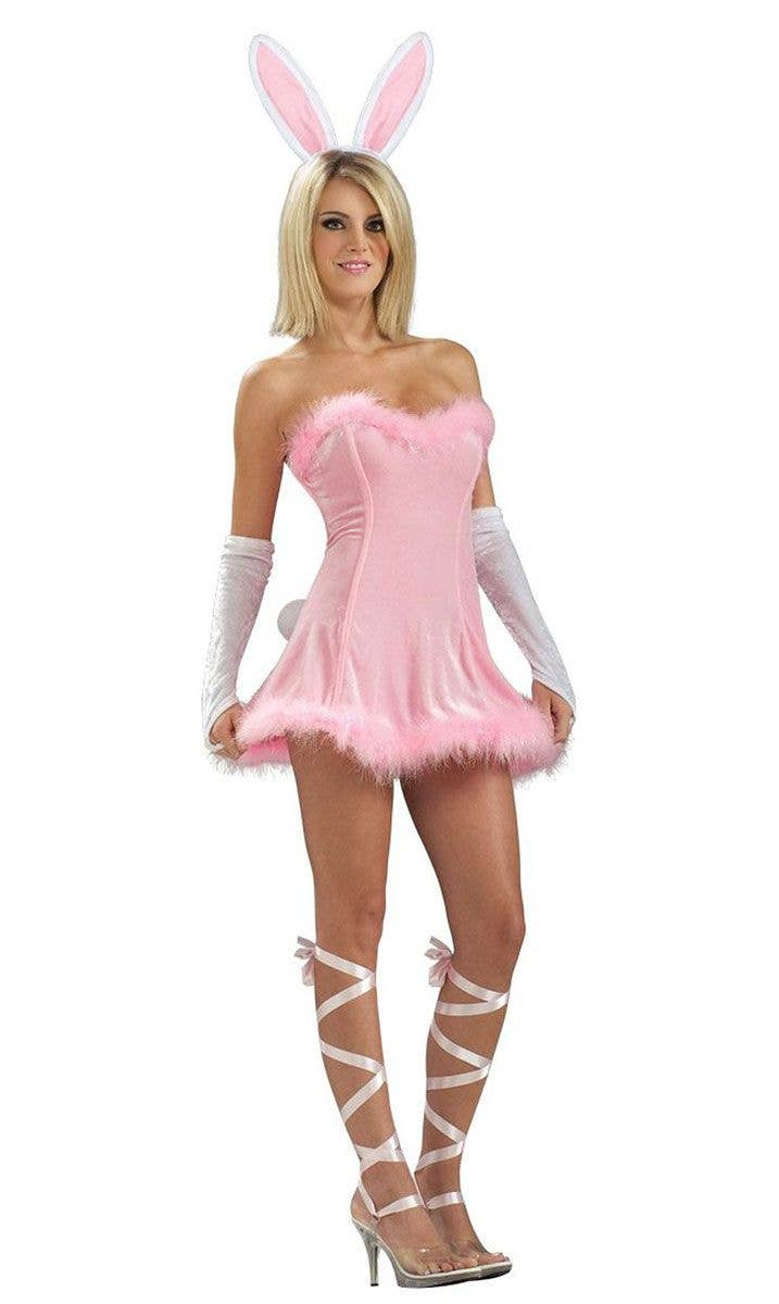 Pink Bunny Sexy Womens Costume Sexy Pink Rabbit Easter Costume