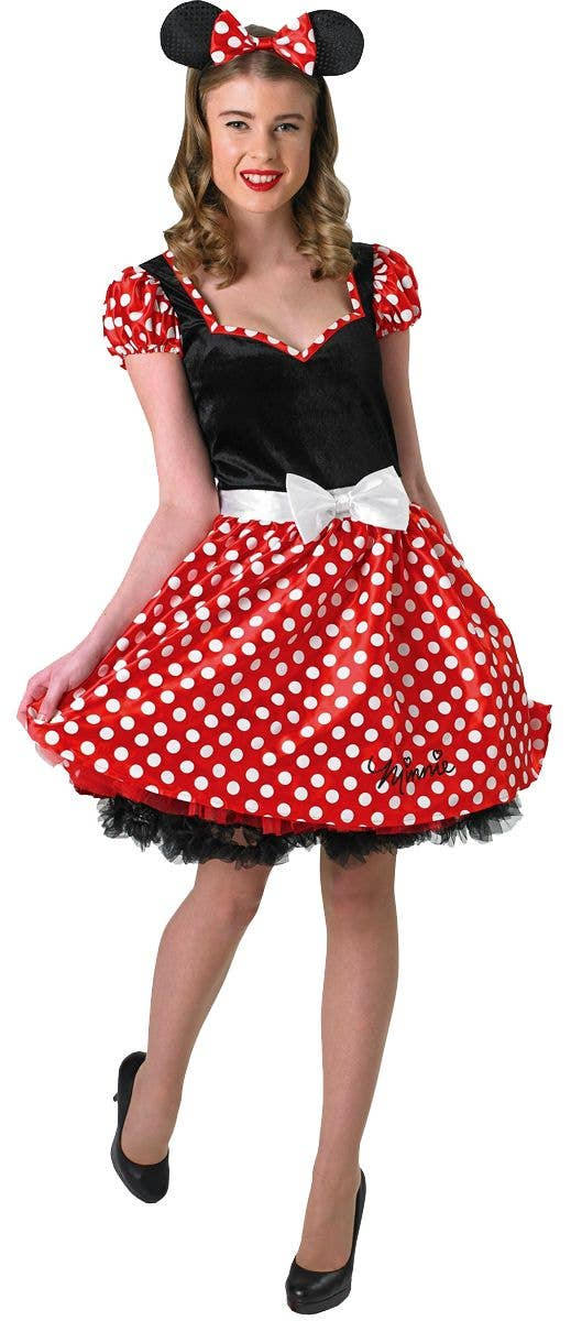Adult Sassy Disney Minnie Mouse Ladies Fancy Dress Costume Party Outfit  SALE