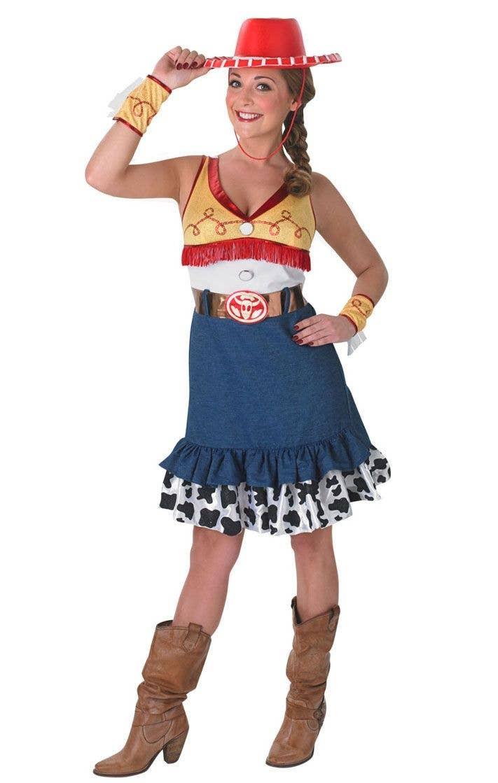 Toy Story Woody Costume Disney Adults Mens Fancy Dress Cowboy Wild Western Hat