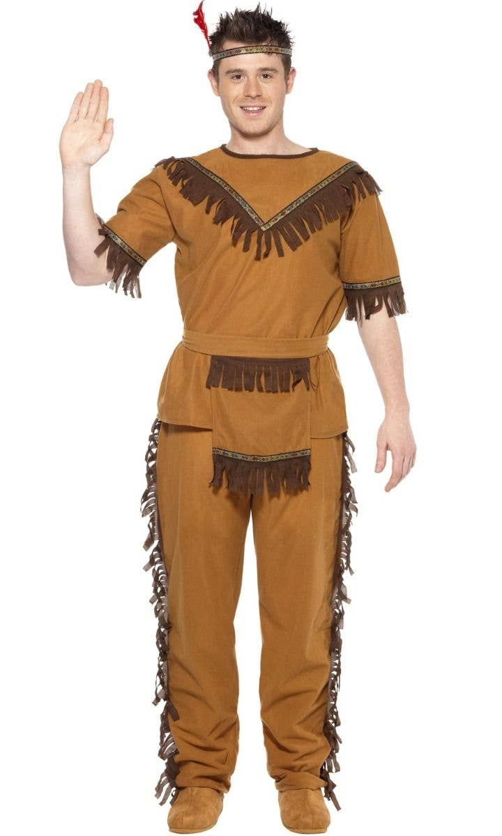 Costume Adventure Brown Hippie Wig and Mustache Costume Set for Men