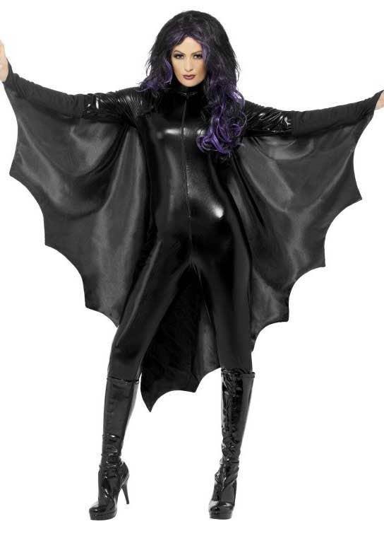 Satin Purple Bat Cape Adult Male Halloween Costume Accessories One Size