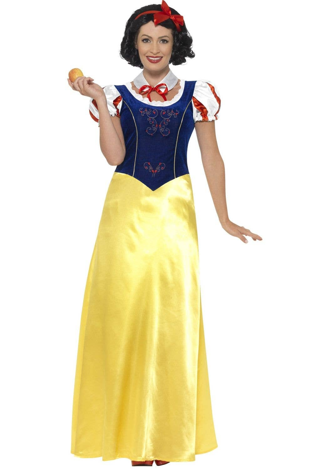 Womens Halloween Ladies Snow White Fairy Tale Fancy Dress Outfit Costume S//M//L