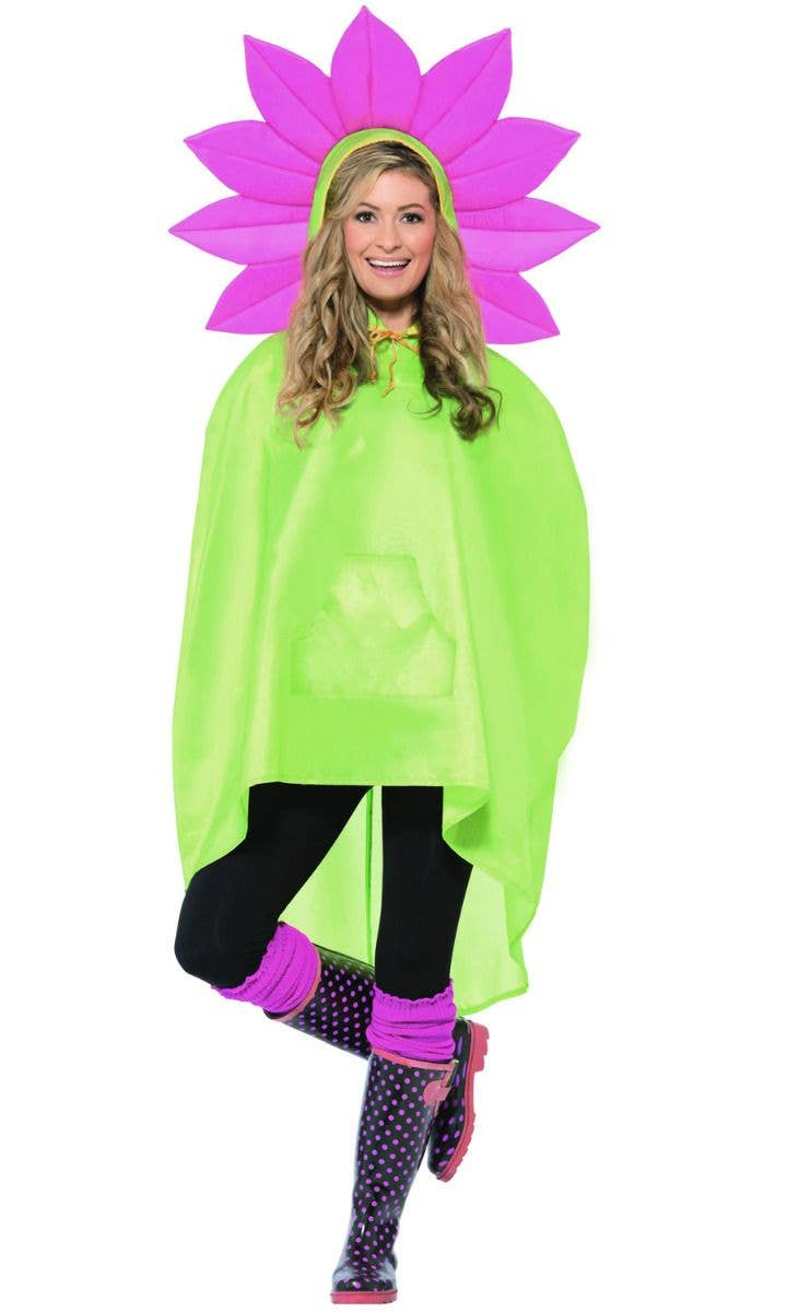 Ladies Mens Festival Essential Batman Waterproof Fancy Dress Poncho Accessory