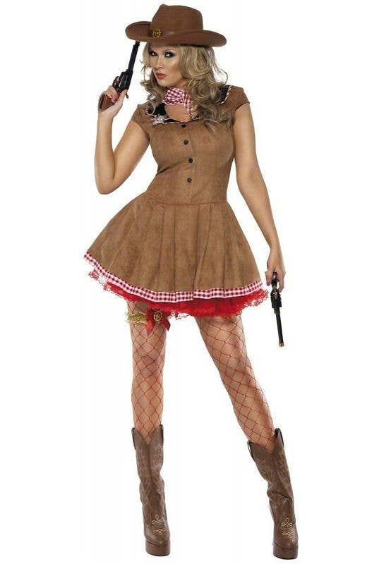 Girls Cowgirl Cutie Fancy Dress Costume Wild West Western Book Week Day NEW