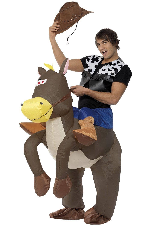Inflatable Ride On Horse Dress Up Men S Ride Em Cowboy Costume
