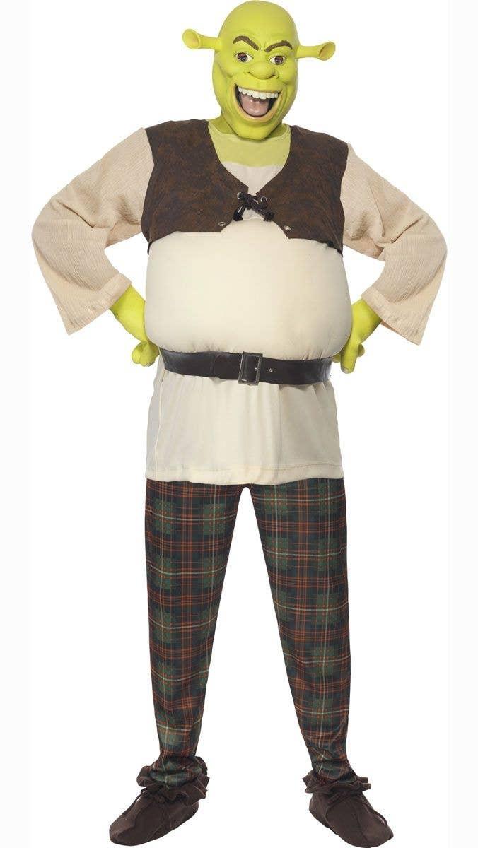 New Adult Licensed Shrek Mask Ogre Latex Full Head Fancy Dress Costume Accessory