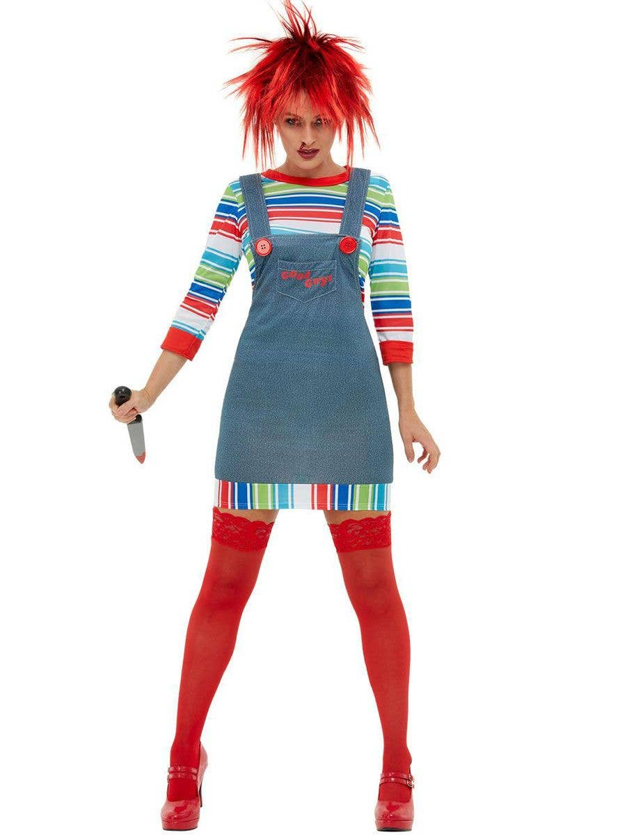 Mens Halloween Officially Licensed Chucky Fancy Dress Costume New Outfit