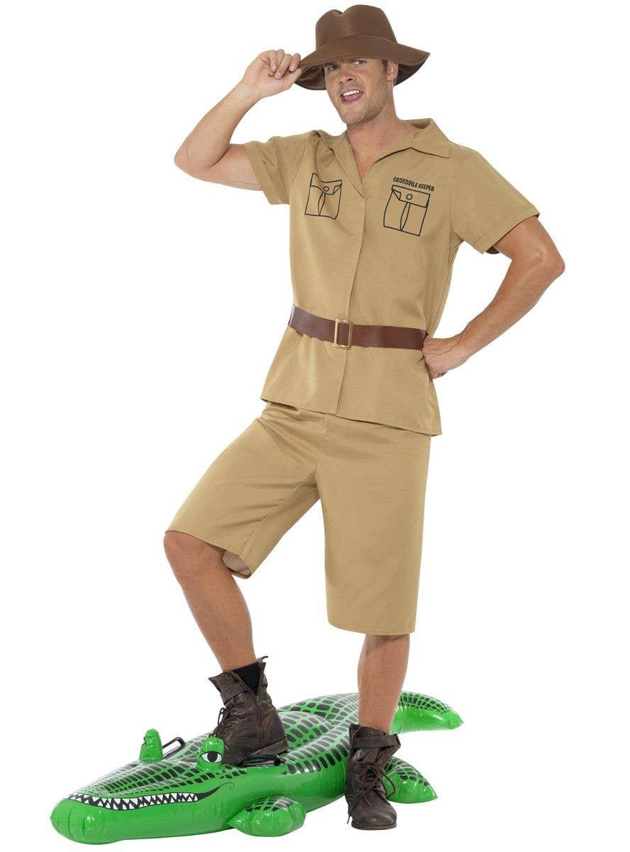 Men S Outback Safari Costume Steve Irwin Fancy Dress Costume