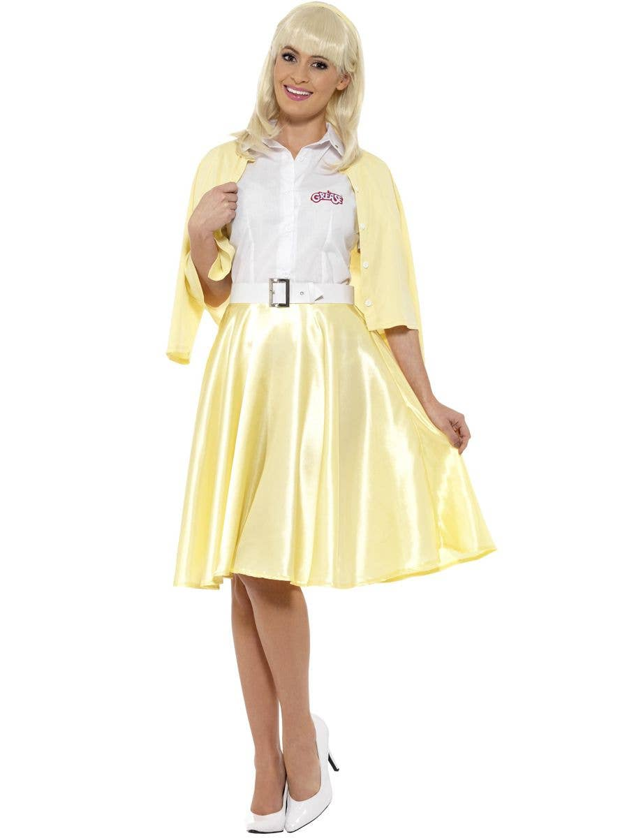 Womens Bad Sandy 1950s Movie Fancy Dress Costume Ladies Outfit