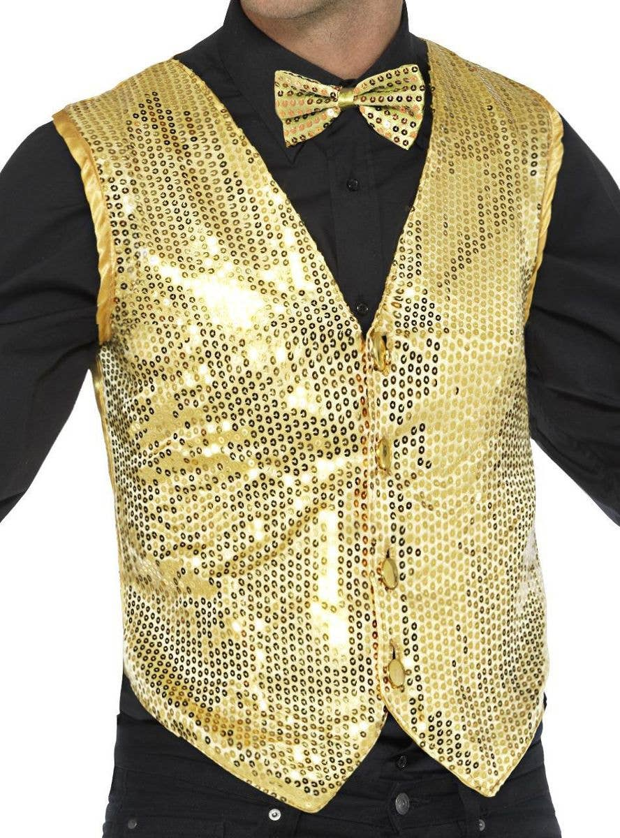 Sequin Waistcoat Jacket Womens Top Festival Hippy Steam Punk Festival Sequins