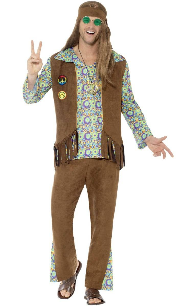 The Man Police Hippie 1970s 1960s Mexican Brown Men Costume Moustache