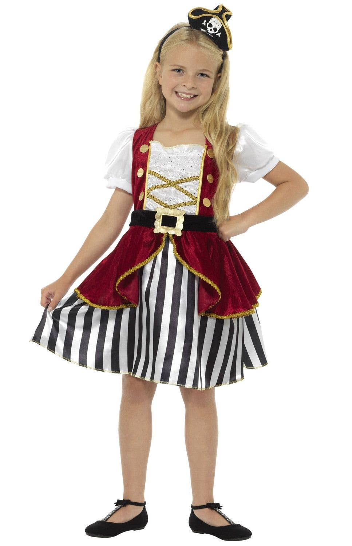 Childrens Fancy Dress Pirate Boy Costume Black//White Kids Childs New by Smiffys