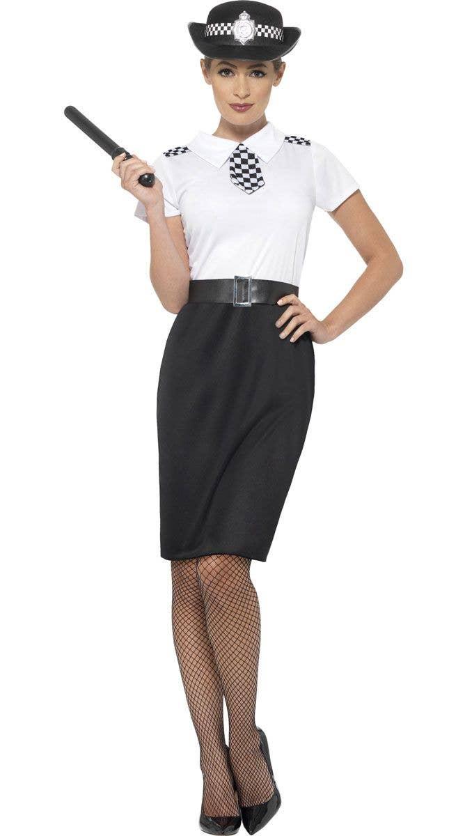 Ladies Police Woman Women Costume Policewoman Cop Officer Uniform Fancy Dress