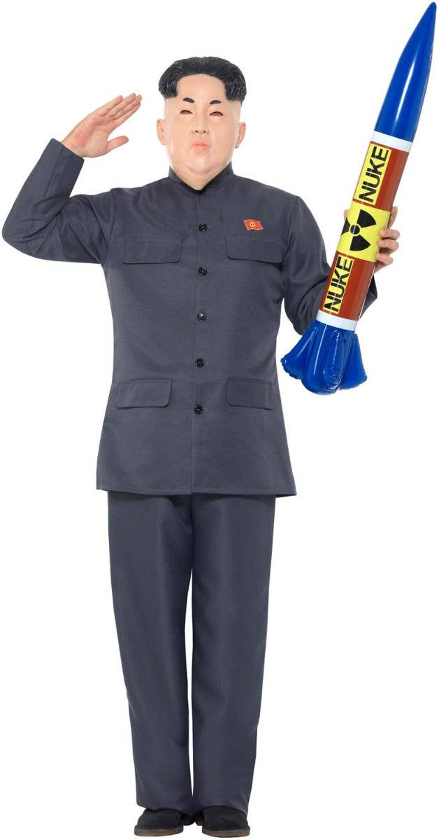 Mens Korean Dictator Leader Funny Halloween Fancy Dress Costume Outfit M,L,XL