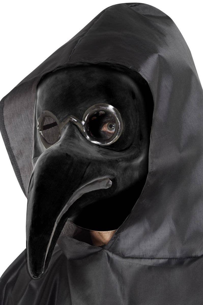 Black Medieval Plague Doctor Short Nose Black Male Funny Masquerade Mask