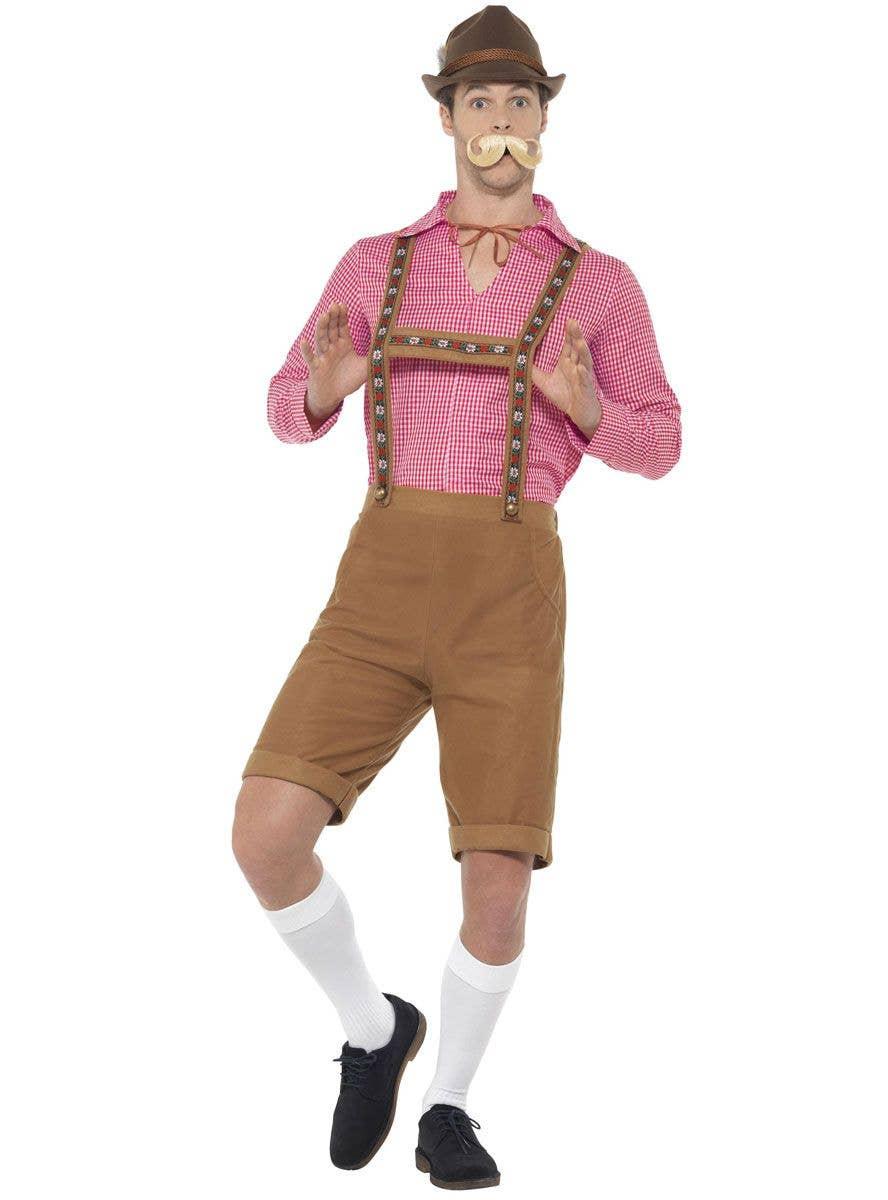 Mens Bavarian Beer Man Lederhosen Fancy Dress Costume /& Hat New by Smiffys