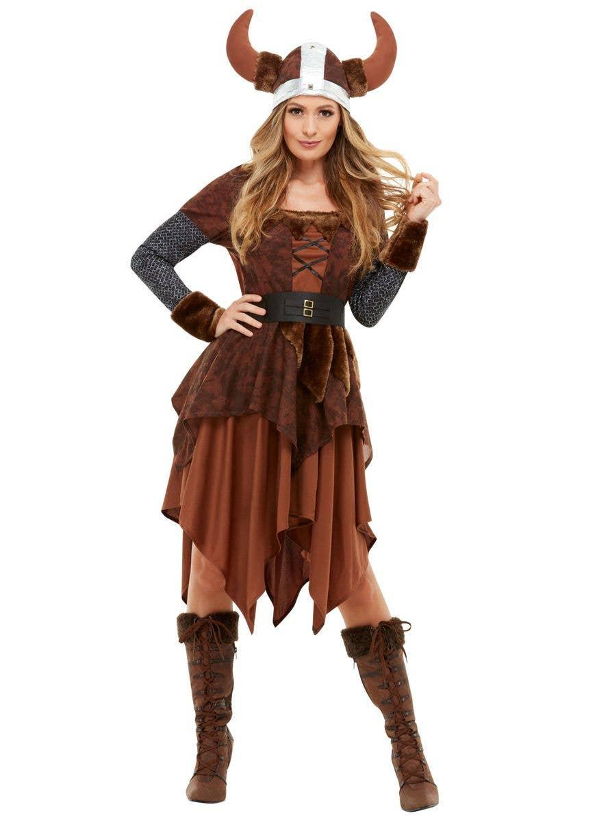 Viking Womens Adult Medieval Barbarian Warrior Costume Helmet