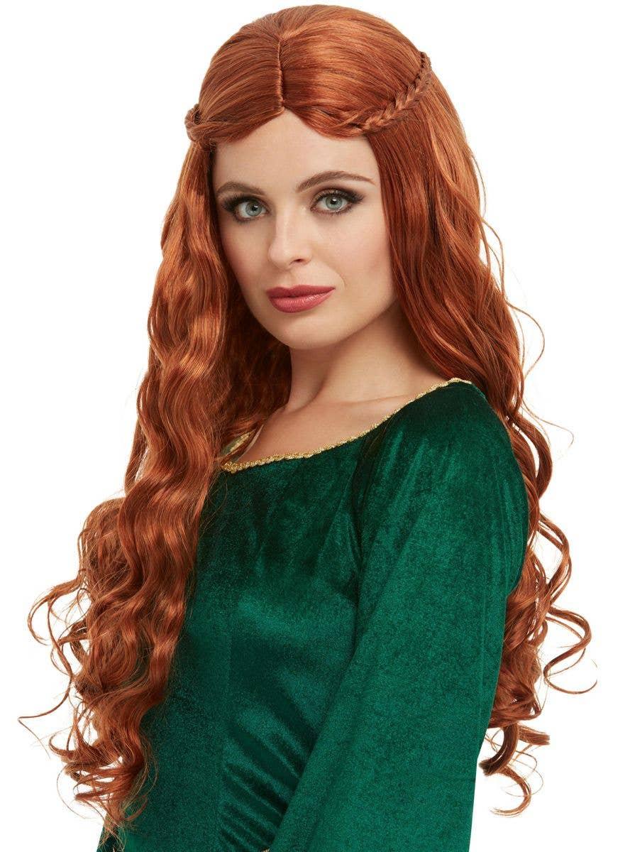 Little Mermaid Costume Wig Child Auburn